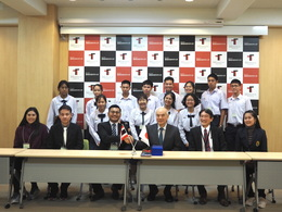 With the president Onishi(PCSHS).JPG